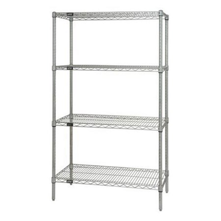 Quantum Storage WR86-2142C Wire 4 Shelf Starter Kit, Chrome - 21 x 42 x 86 in. - image 1 de 1
