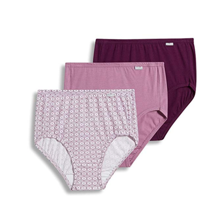 Jockey Women's Underwear Elance Brief - 3 Pack, Vintage Mauve/Dotted Tile/Absolute Plum, 5