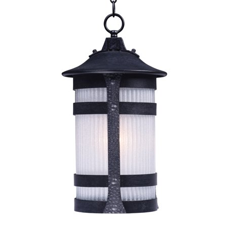 Outdoor Pendant 1 Light Bulb Fixture With Anthracite Finish Die Cast Aluminum Material MB Bulbs 10 inch 60 Watts
