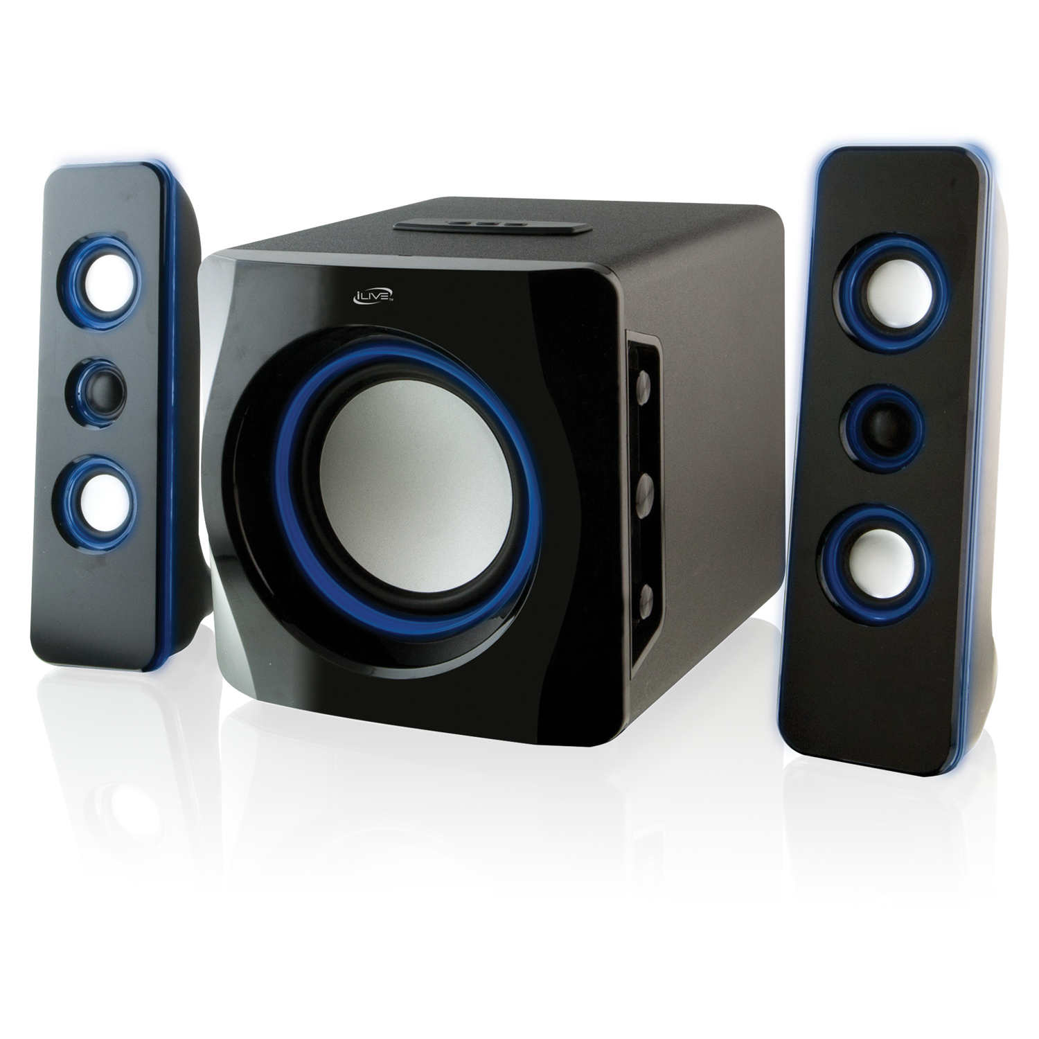 iLive IHB23B Wireless 2.1-Channel Bluetooth System, Black