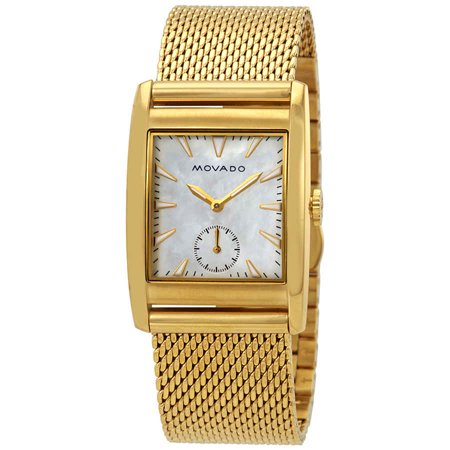 Movado Heritage White Mother of Pearl Dial Ladies Watch 3650040 ()