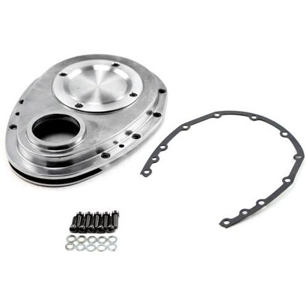 Speedmaster PCE265.1033 Polished Aluminum 2-Piece Timing Chain (Aluminum Timing Chain Cover)