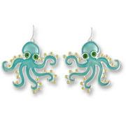 Zarah 01-10-Z1 Calypso Octopus Silver Plate Earrings