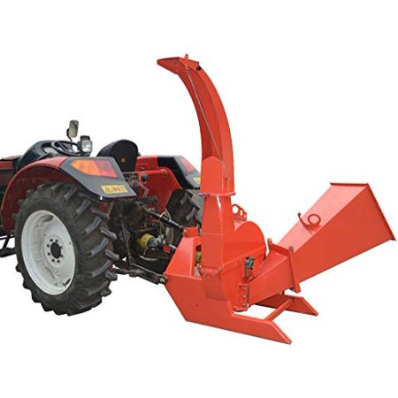 Wood Chipper Tractor Attachment 3 Point PTO Cutter Leaf Mulcher Shredder, Tractors 35 to 100 HP, 6.5 x 10 Inch Chipper Capacity, 1 Year Parts Warranty, Model