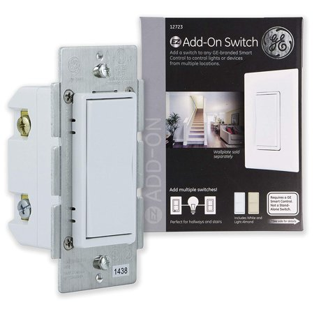 GE Add-On In-Wall Paddle Switch for Smart Home, Hub Required, 12723