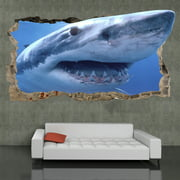 Startonight 3D Mural Wall Art Photo Decor Shark in my Room Amazing Dual View Surprise Wall Mural Wallpaper Animals Gift Large 47.24 ?? By 86.61 ??
