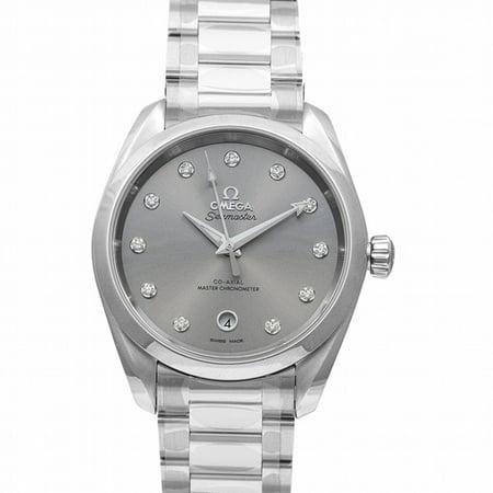 Omega Seamaster Aqua Terra 150M Co-Axial Master Chronometer Ladies' 38mm Automatic Grey Dial Diamonds Ladies Watch 220.10.38.20.56.001