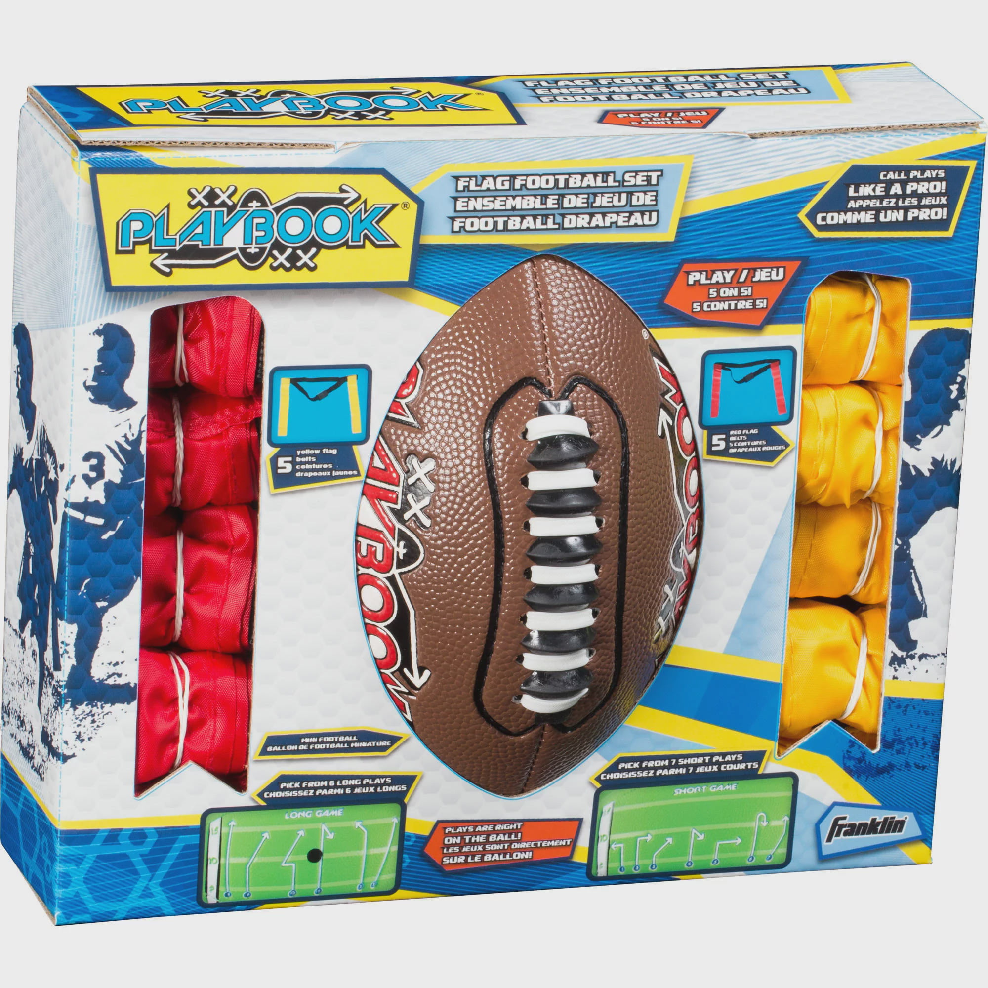 Franklin Sports Mini Playbook Flag Football Set Walmart