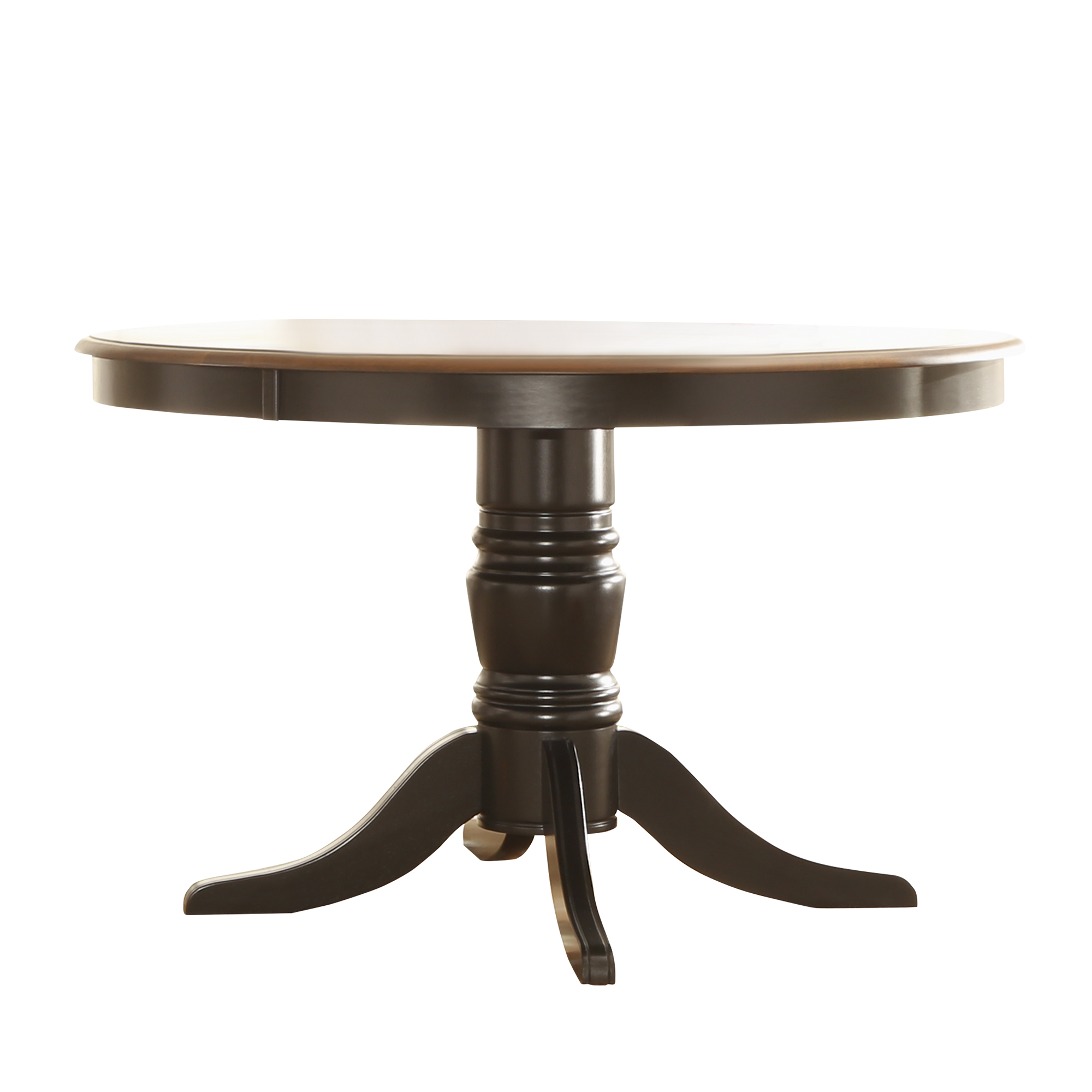 Weston Home Two Tone 48 Round Dining Table Multiple Finishes
