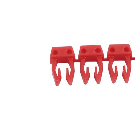 20 Pcs Letters B Network Cable Labels Markers Red for 1.0-3.0mm Dia Cable - image 2 of 4