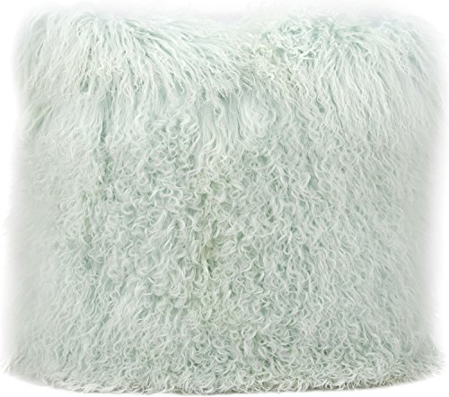 Couture Fur Seafoam Tibetan Sheepskin Pillow