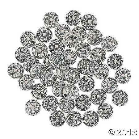 Silvertone Decorative Spacer Beads (Decorative Beads)