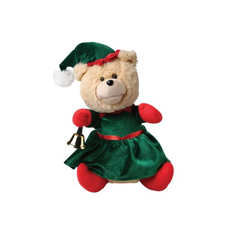 Nika International Gift Toy Rockin' Around the Christmas Tree Singing Teddy Bear Ellie Stuffed Animal Animated Musical