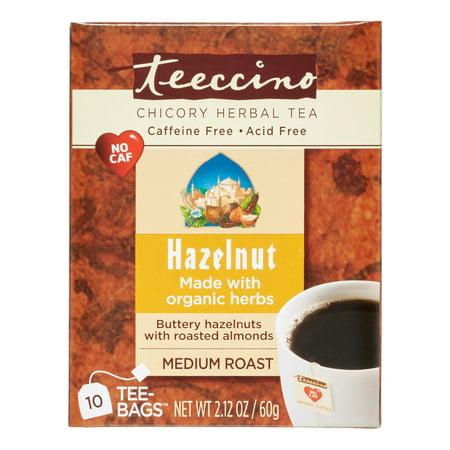 Teeccino Herbal Coffee Hazelnut 10 Tea Bags
