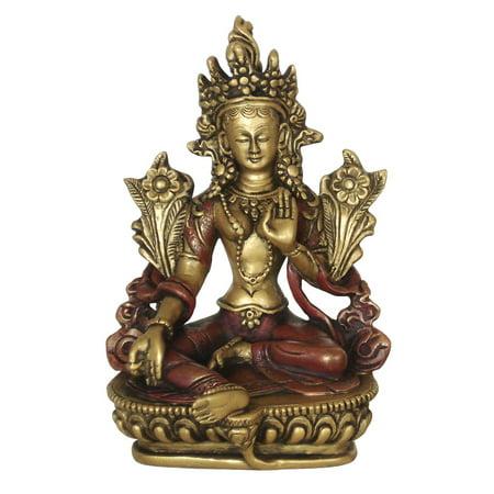 Green Tara Statue, 5.75 Inches