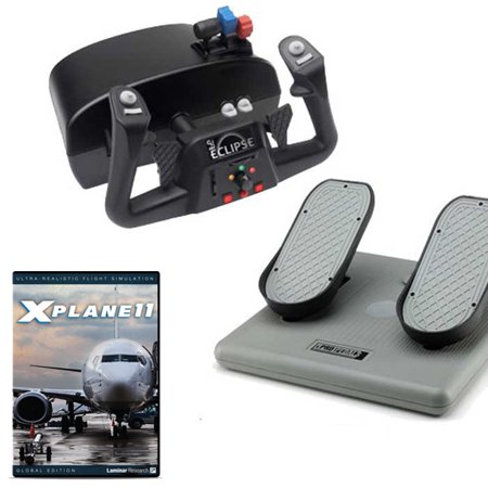CH Products Pro Flight Simulation w/X-Plane 11 DVD Bundle