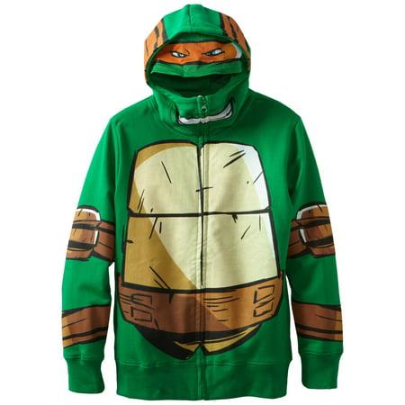 Teenage Mutant Ninja Turtles Boy's Zip-Up Hoodie, Small