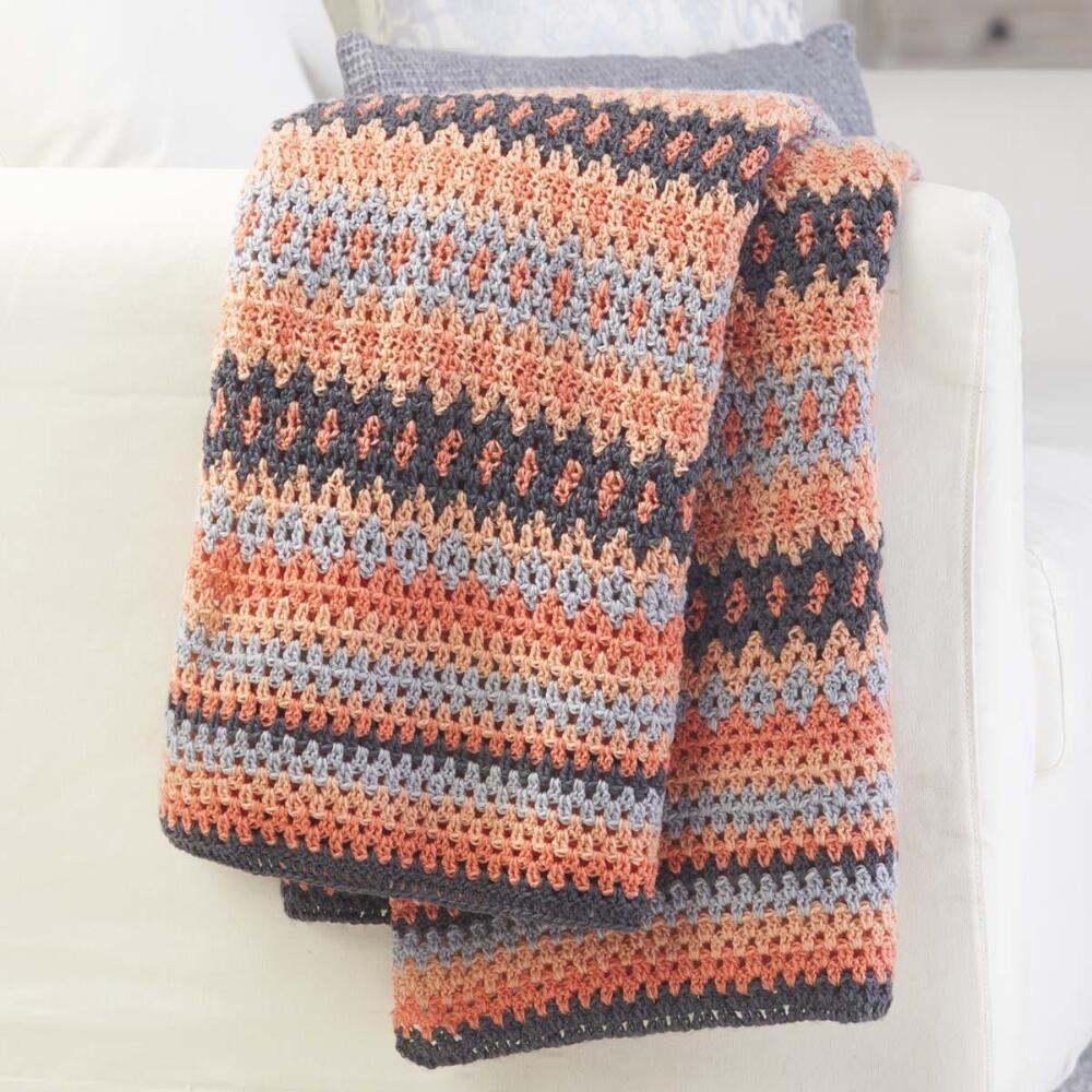 Herrschners® Inverness Fair Isle Crochet Afghan Kit - Walmart.com