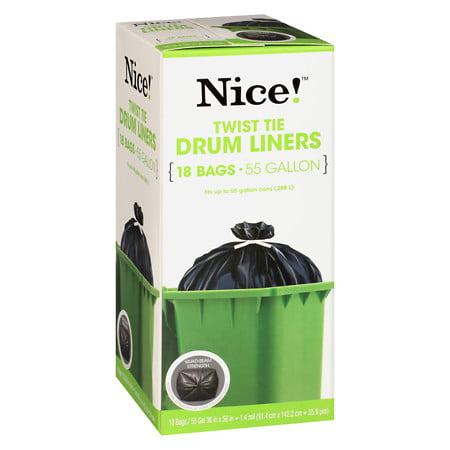 Weight 55 Gallon Steel Drum - Nice! Twist Tie Drum Liners 55 Gallon 18.0 ea (Pack of 4)