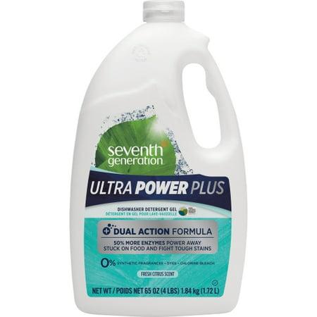 Seventh Generation Ultra Power Plus Dishwasher Detergent Gel, Fresh Citrus, 65 oz ()
