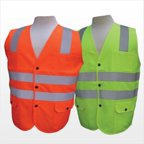3asafety C2501-M Lime Solid Front & Mesh Back Vest - Medium