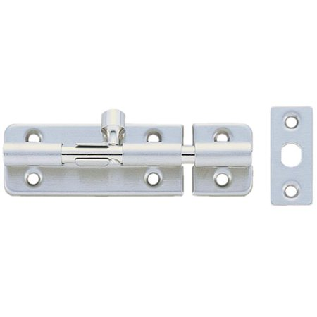 Sugatsune SUBL60 SS Spring Loaded Barrel Bolt BLS Series, Satin & Stainless Steel - 24 x 60 in.