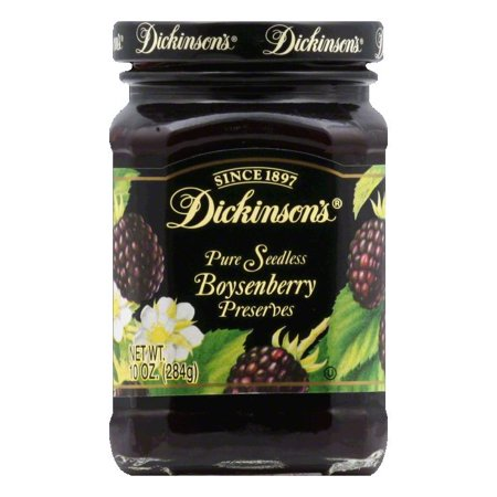 Dickinsons Boysenberry Seedless Preserves, 10 OZ (Pack of 6)