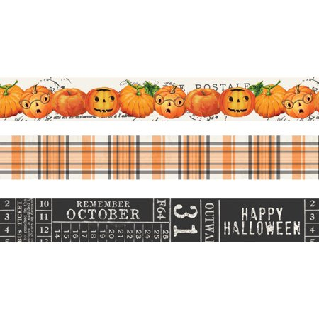 Simple Vintage Halloween Washi Tape 3/Pkg- - Simple Halloween Martini