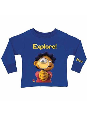 Personalized Sid the Science Kid Explore Boy's Royal Blue Long Sleeve Tee
