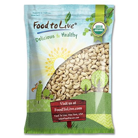 Food To Live Certified Organic Cashews W-240 (Whole, Raw) (12 Pounds)
