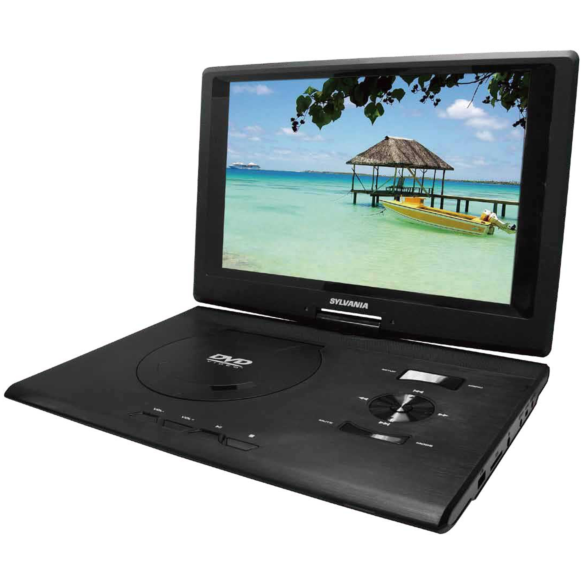 "Sylvania Sdvd1332 Portable Dvd Player - 13.3"" Display - 1280 X 800 - Black - Dvd-rw, Dvd+rw, Cd-rw - Jpeg - Dvd Video - 16:9 - Cd-da, Mp3 - 1 X Headphone Port[s] - Usb - Lithium Polymer - 2 (sdvd1332)"
