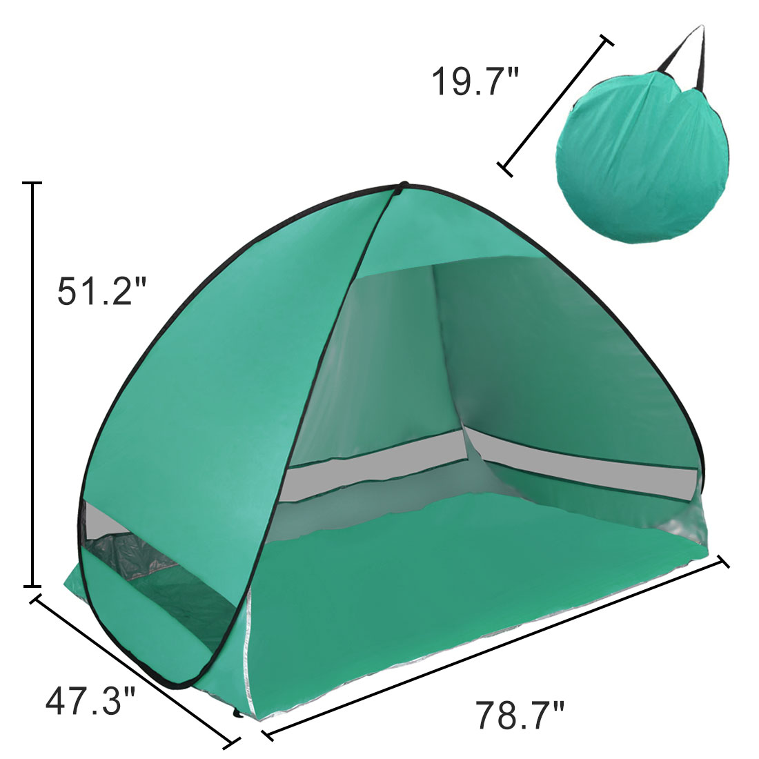 Portable Pop Up Beach Tent Sun Shade UV 50+ Protection Canopy Outdoor Automatic Instant Tent Sun Shelters - Walmart.com  sc 1 st  Walmart : portable beach tent - memphite.com