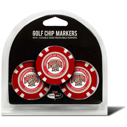 Team Golf NCAA Maryland 3 Pack Golf Chip Ball Markers
