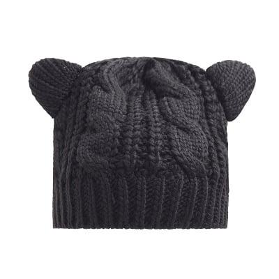 SHOPFIVE Women's Warm Cute Cat Ear Winter Beanie Crochet Knit Ski Wool Hat Chic