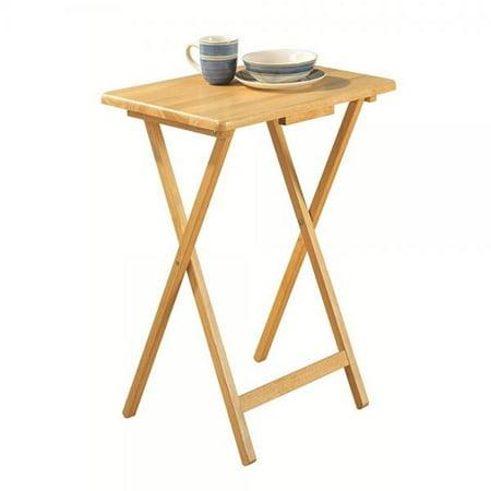 super popular 79f93 b8814 pj wood folding tv tray & snack table - natural