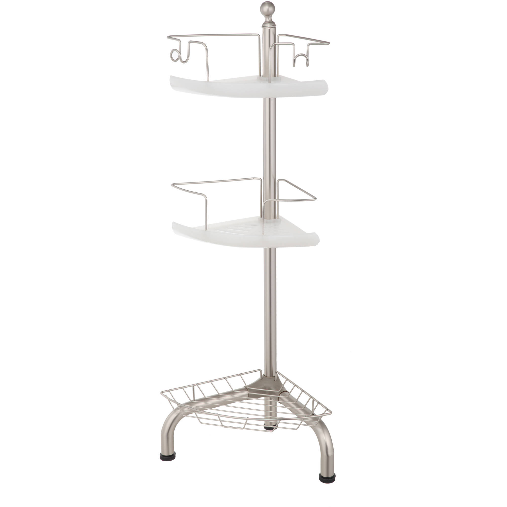 Three Tier Bathroom Stand: Home Bath Decor 3 Tier Corner Shower Bathroom Caddy