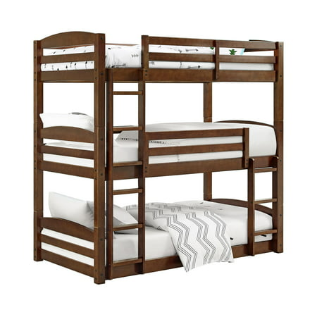 Better Homes And Gardens Sullivan Convertible Triple Twin Over Bunk Bed Mocha