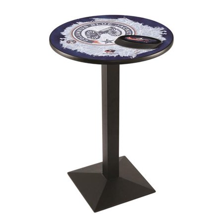 Holland Bar Stool L217B3636ColBlu-D2 36 in. Columbus Blue Jackets Pub Table with 36 in. Top, Black - image 1 de 1