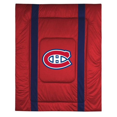 Montreal Canadiens SIDELINES King Jersey Material Comforter