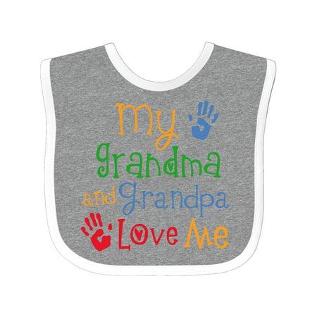 Grandpa Baby Bib (My Grandma and Grandpa Love Me Baby Bib )