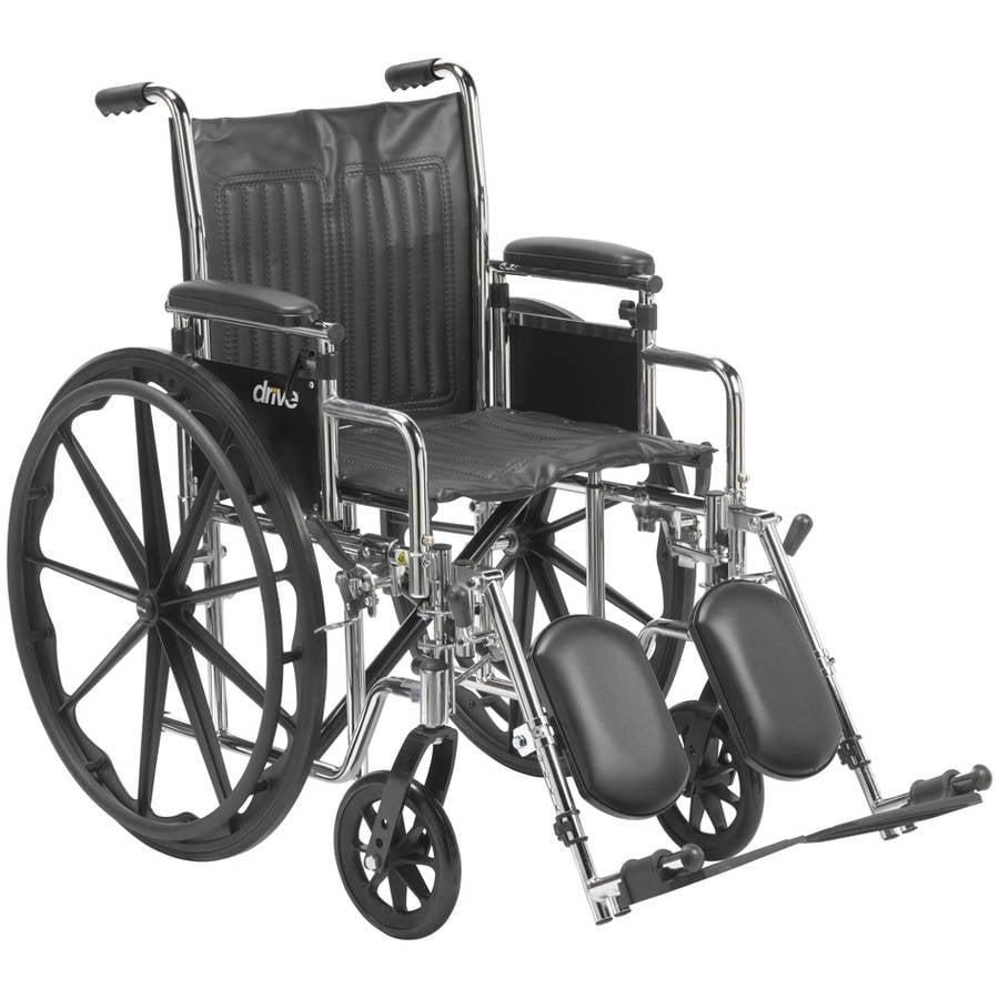 Drive Medical Chrome Sport Wheelchair, A
