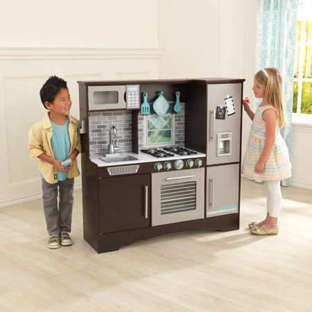 KidKraft Culinary Play Kitchen - Espresso - Walmart.com