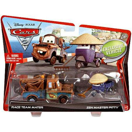 Custom Diecast Race Cars (Disney/Pixar Cars 2-Packs Race Team Mater & Zen Master Pitty Diecast Car 2-Pack )