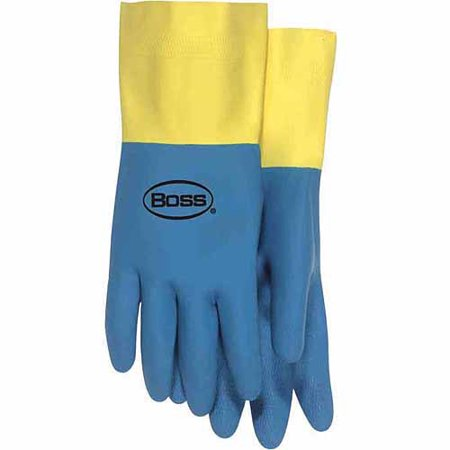 14 Medium Flock Lined Neoprene and Latex Gloves