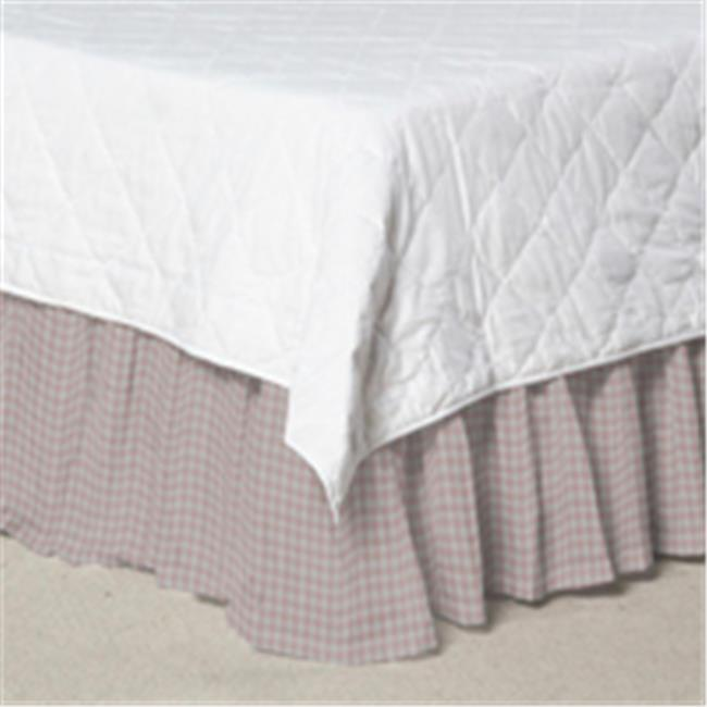 Patch Magic DRKW234S Baby Pink and White Gingham Chk, Fabric Dust Ruffle King 78 x 80 inch by Patch Magic