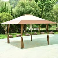 13'x13' Folding Gazebo Canopy Shelter Awning Tent Patio Garden Outdoor Companion