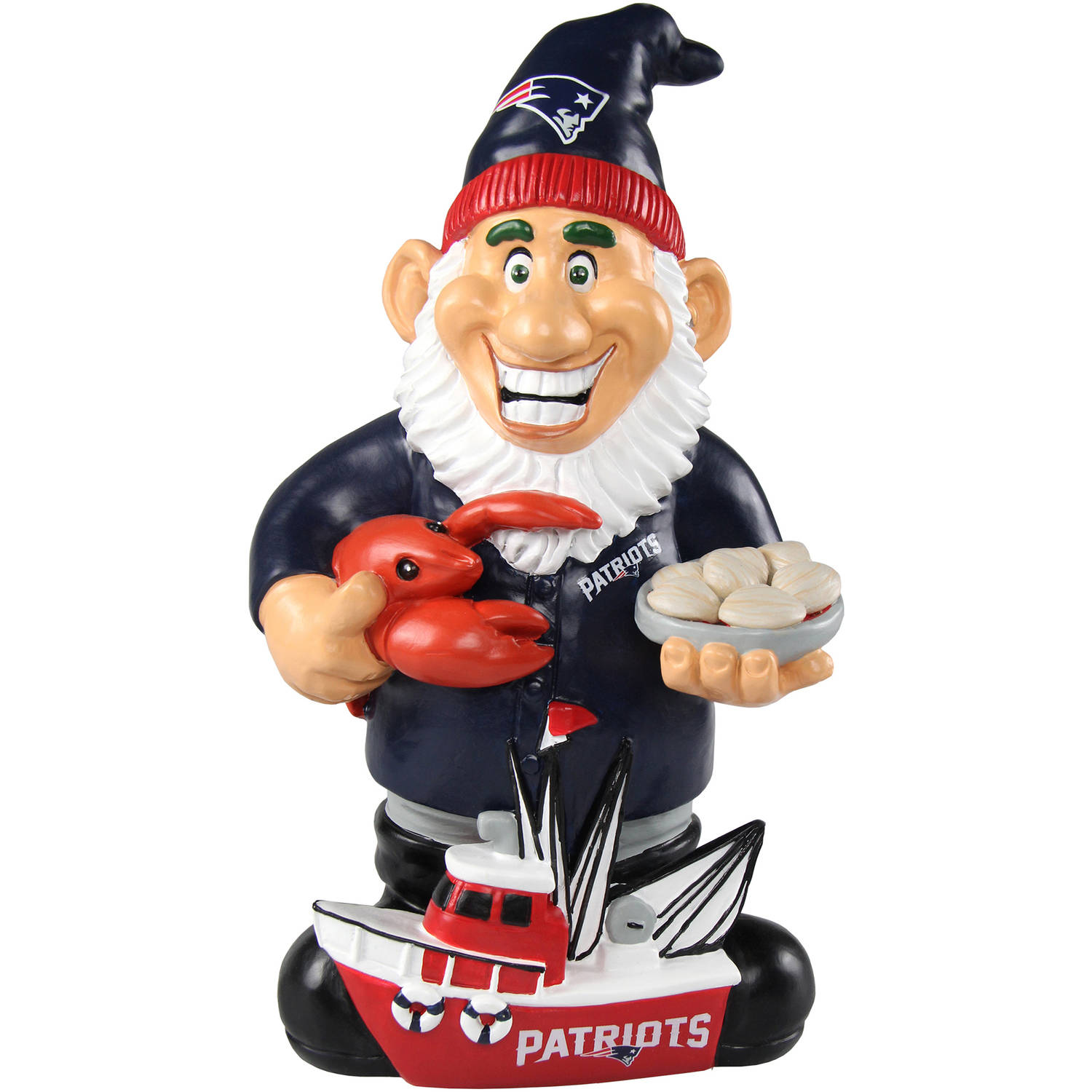 Forever Collectibles NFL Caricature Garden Gnome, New England Patriots