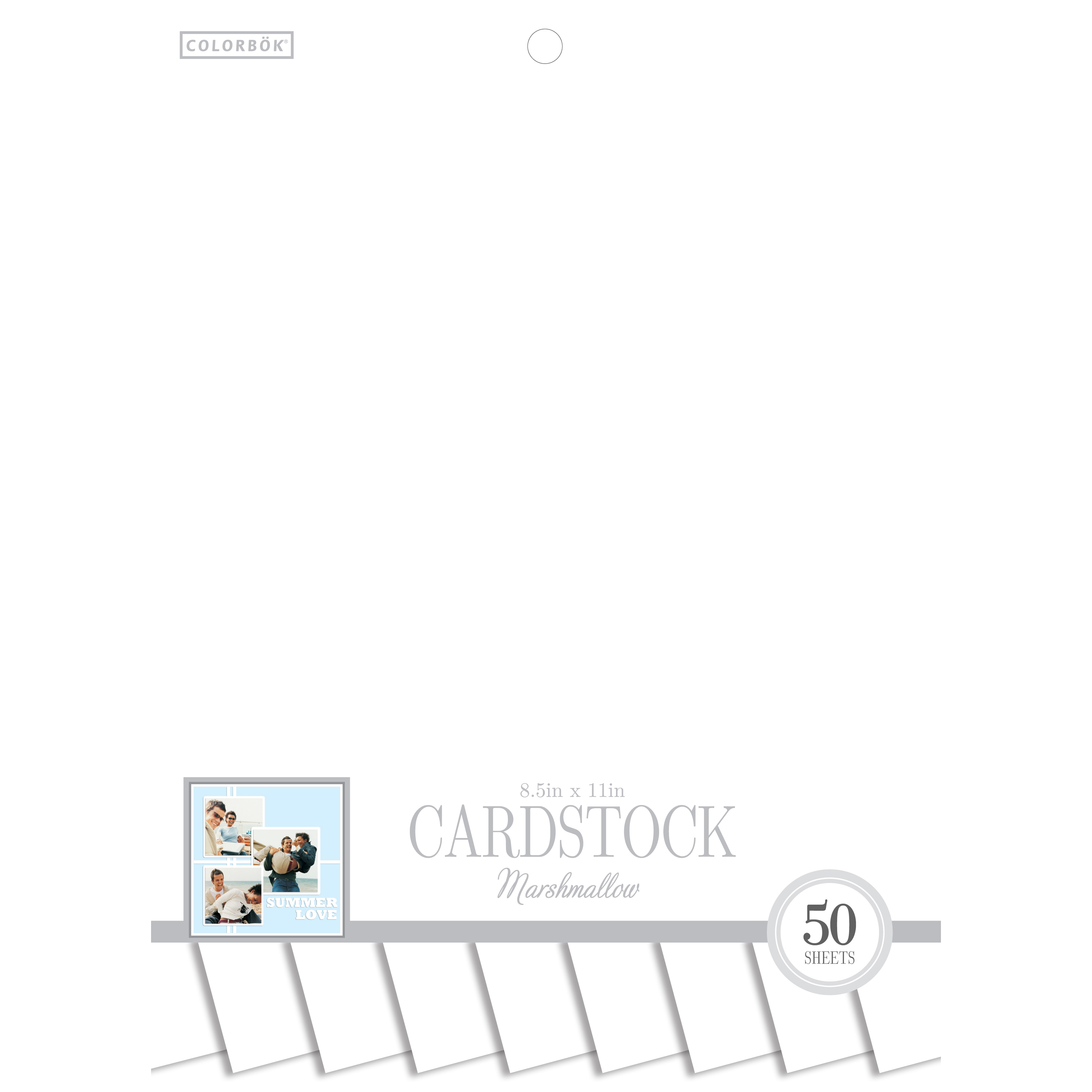 """Colorbok 8.5"""" Smith Cardstock Pad, Marshmallow"""
