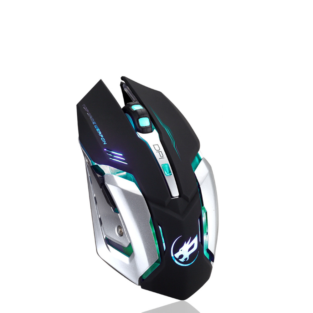 Outtop Rechargeable T1 Wireless Silent LED Backlit USB Optical Ergonomic Gaming Mouse