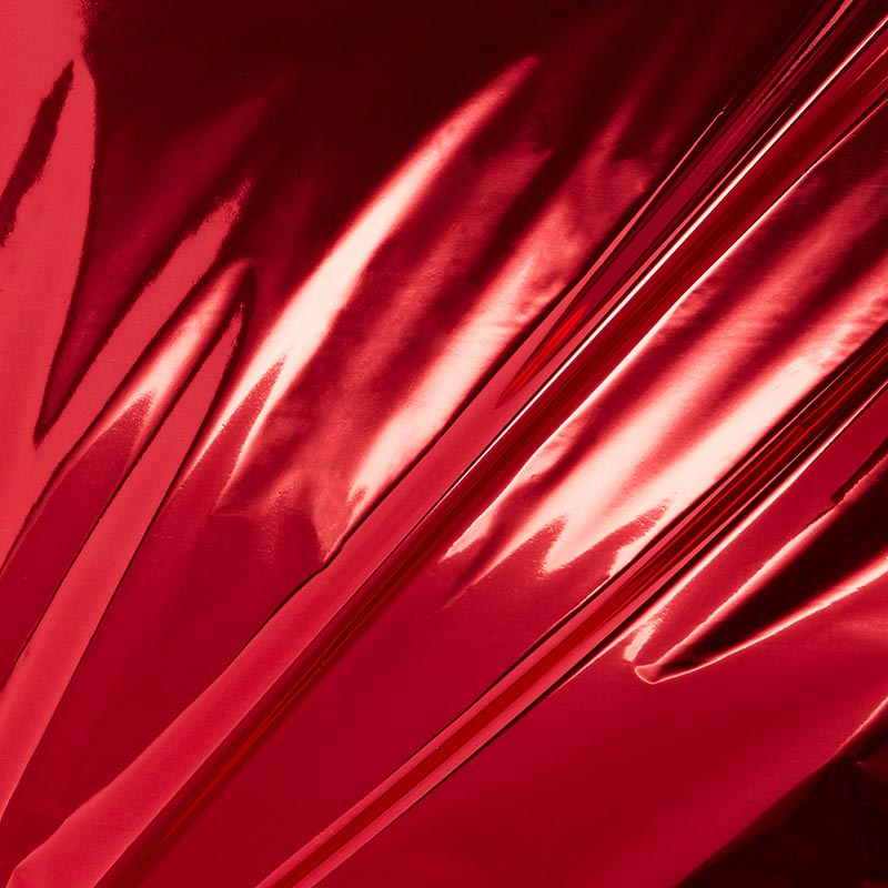 "Red Metallic Foil Paper 30"" X 100' - 80 mil Thick by Paper Mart"